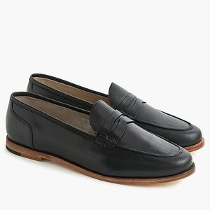 J. Crew Ryan penny loafers in black leather NWOB